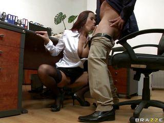 Женские ножки под столом