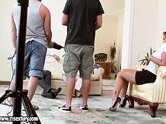 Порно видео худых двойное проникновение